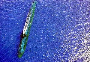 USS Chicago (SSN 721) at periscope depth off Malaysia.jpg