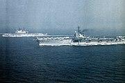 USS Independence (CVA-62) and HMS Ark Royal (R09) 1971