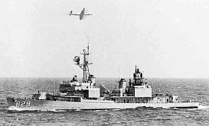 USS Myles C Fox (DD-829) off Venezuela 1970.jpg