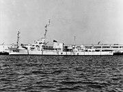 USS Newell (DE-322) at the Long Beach Naval Shipyard on 20 August 1956 (NH 91592)