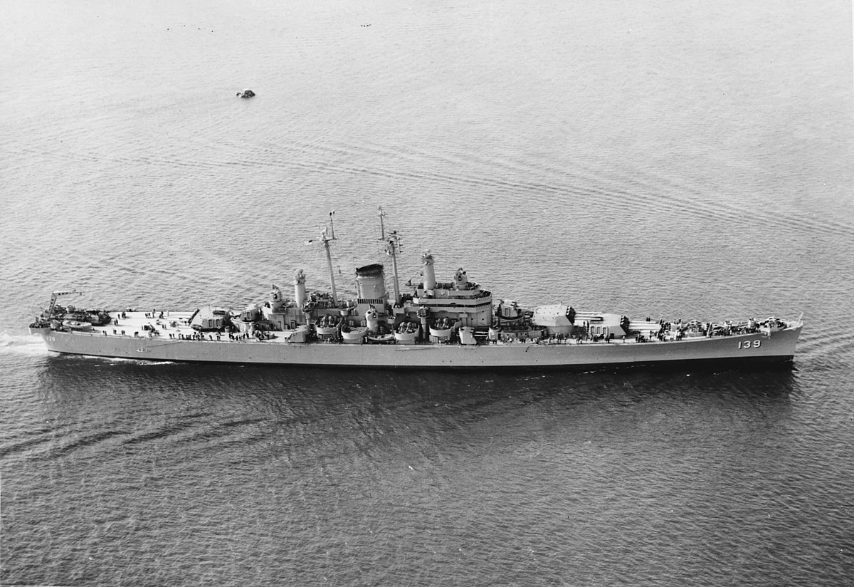 USS Salem underway in May 1949