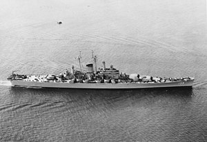 USS Salem (CA-139) - USS Salem underway in May 1949
