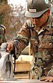 US Navy 060120-F-4462M-069 A U.S. Navy Seabee assigned to Naval Mobile Construction Battalion Four (NMCB-4)) help to build a temporary school in the mountains near Muzaffarabad, Pakistan.jpg