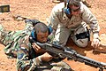 US Navy 070822-F-5735S-036 MM3 instructs Tech. Sgt. Rodney Hicks, of the 4th Combat Camera Squadron, how to use the M-240B.jpg