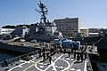 US Navy 070920-N-4649C-027 Sailors assigned to guided-missile destroyer USS Lassen (DDG 82) heave on the aft line as she performs a Mediterranean mooring evolution.jpg