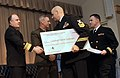 US Navy 090212-N-8273J-025 Vice Adm. John Harvey, Director of Navy Staff, congratulates Chief Hospital Corpsman Daniel Rossi for the contributions from the National Naval Medical Center.jpg