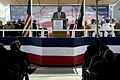 US Navy 090516-N-5549O-100 Acting Secretary of the Navy the Honorable BJ Penn addresses hundreds of guests during the christening ceremony for the Arleigh Burke-class destroyer pre-commissioning unit (PCU) Gravely (DDG-107).jpg