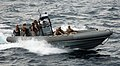 US Navy 091118-N-7058E-607 A visit, board, search, and seizure (VBSS) team from the littoral combat ship USS Freedom (LCS 1) takes part in a maritime intercept operation exercise.jpg