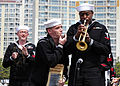 US Navy 110410-N-RO948-112 The U.S. 7th Fleet Band performs in front of Changwon Stadium on the final day of the 2011 Jinhae International Military.jpg