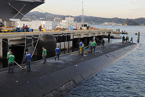 US Navy 111221-N-DI599-044 USS North Carolina is moored at Fleet Activities Yokosuka.jpg