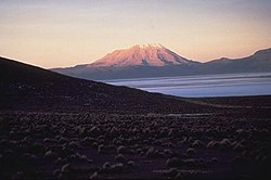 Ubinas vulcão no Sánchez Cerro Província Geral