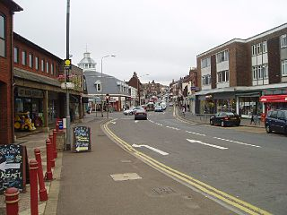 Uckfield town in East Sussex, England
