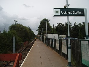 Uckfield railway station - Present station before construction of new ticket office in 2010