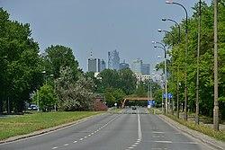 Ulica Jana III Sobieskiego w Warszawie 2019