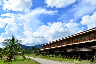 Bakun Dam - Uma Daro longhouse is one of the longhouses built in Sungai Asap for the relocation of the natives displaced by the Bakun Dam.