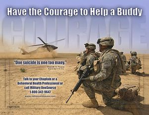 Suicide in the United States - A United States Army suicide prevention poster