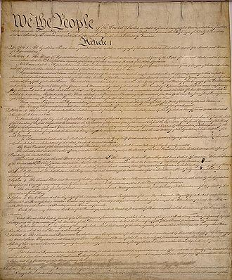 Paragraph - Indented paragraphs demonstrated in the US Constitution