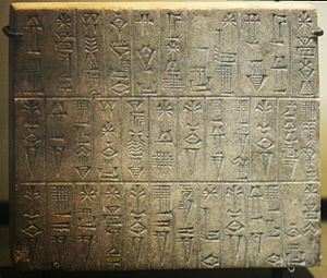 Ur-Baba -  Ur-Baba inscription plaque enumerating the temples erected by him; Louvre collection (AO 261)