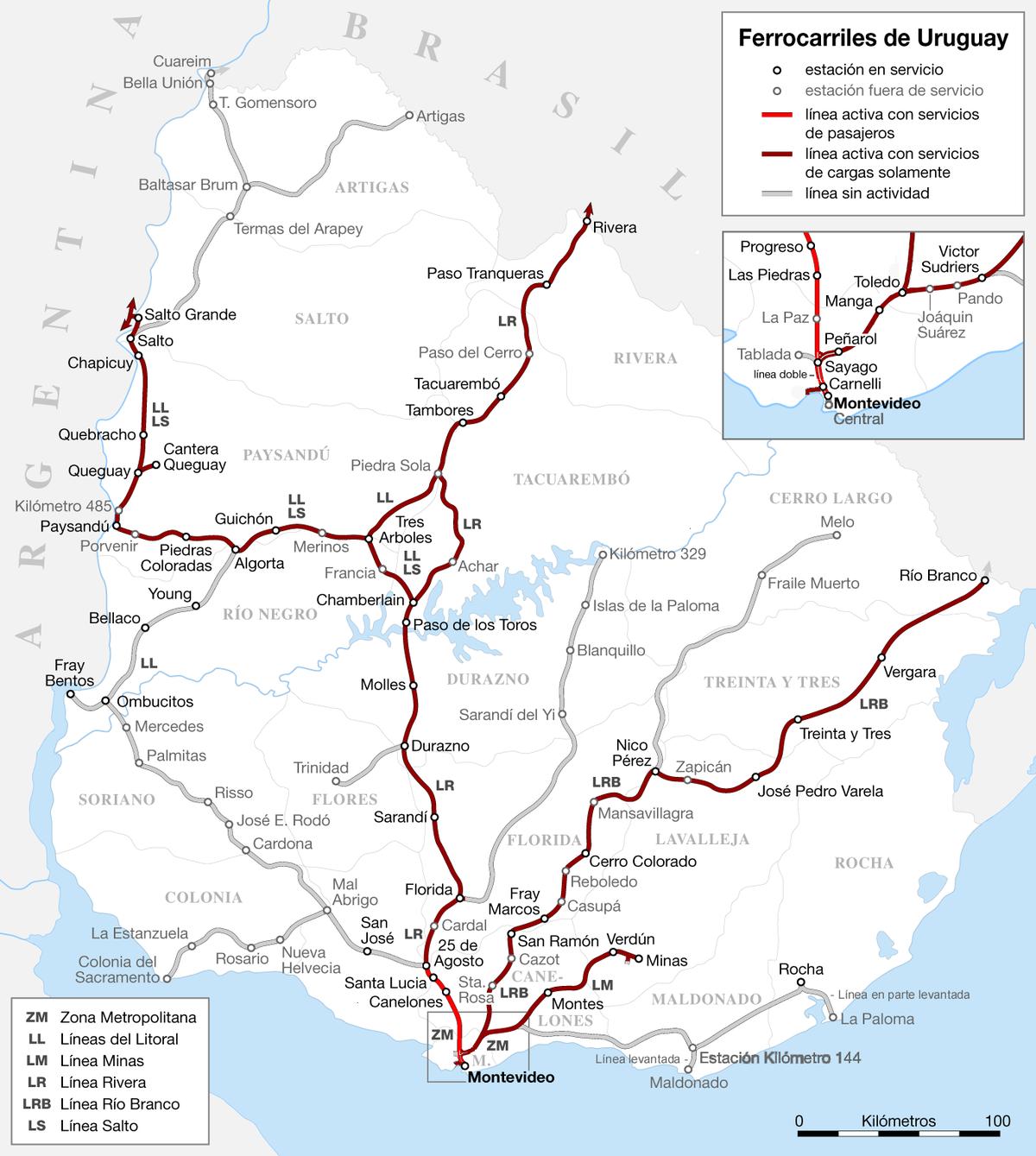 Red Ferroviaria De Uruguay Wikipedia La Enciclopedia Libre