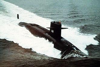 USS Von Steuben (SSBN-632) - USS Von Steuben, underway, 15 May 1985
