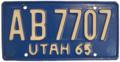Utah 1965 License Plate.png