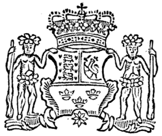 Adresseavisen - The Royal Coat of Arms on the header of the first page of the first issue, published on 3 July 1767.