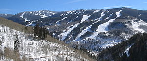 Vail, Colorado - North side of Vail Mountain, and Vail Valley.