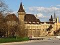 Vajdahunyad castle from Zielinski Bridge, 2013 Budapest (341) (13227780195).jpg