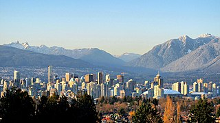 North Shore Mountains mountain sub-range of the Coast Mountains of the Pacific Coast Ranges of North America