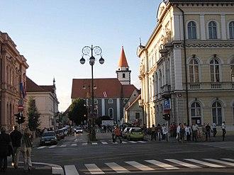 Varaždin - Streets of Varaždin.