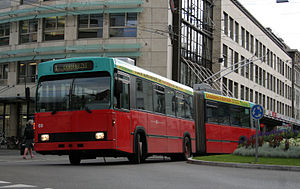 Trolleybuses in Biel/Bienne - Image: Verkehrsbetriebe Biel Trolley 69