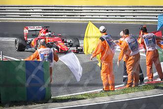 2015 Hungarian Grand Prix - Sebastian Vettel celebrating his victory