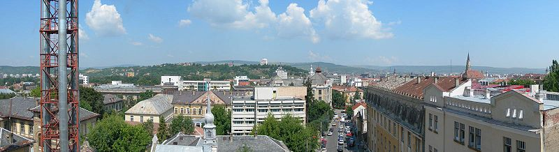 View of downtown Cluj-Napoca from the Victor Babeş Street in the Haşdeu area