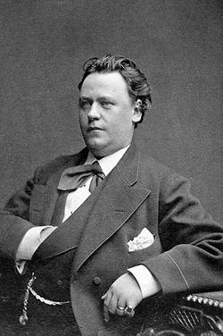 Victor Holmquist, skuespiller ved det Nye teater 1877