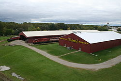 Victor McCormick Train Pavilion and Frederick J Lenfestey Center at National Railroad Museum.jpg