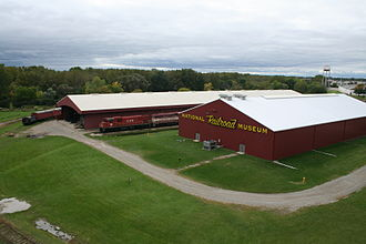 National Railroad Museum - The Victor McCormick Train Pavilion (left) and Frederick J Lenfestey Center (right) at the National Railroad Museum.