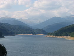 Vidraru lake, northern Argeș County