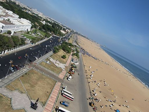 View from the Lighthouse @ Chennai Marina Beach