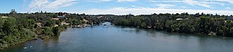 Folsom, California - Image: View of Folsom bridges from Lake Natoma Crossing Bridge