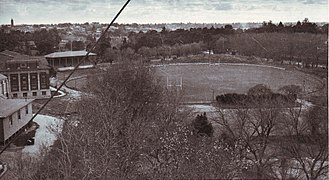 Jubilee Oval (Adelaide) - Image: View of Jubilee Oval looking towards the River Torrens 1934