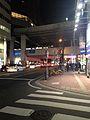 View of Kokutaidoro Street near Nishitetsu-Fukuoka Station at night.jpg