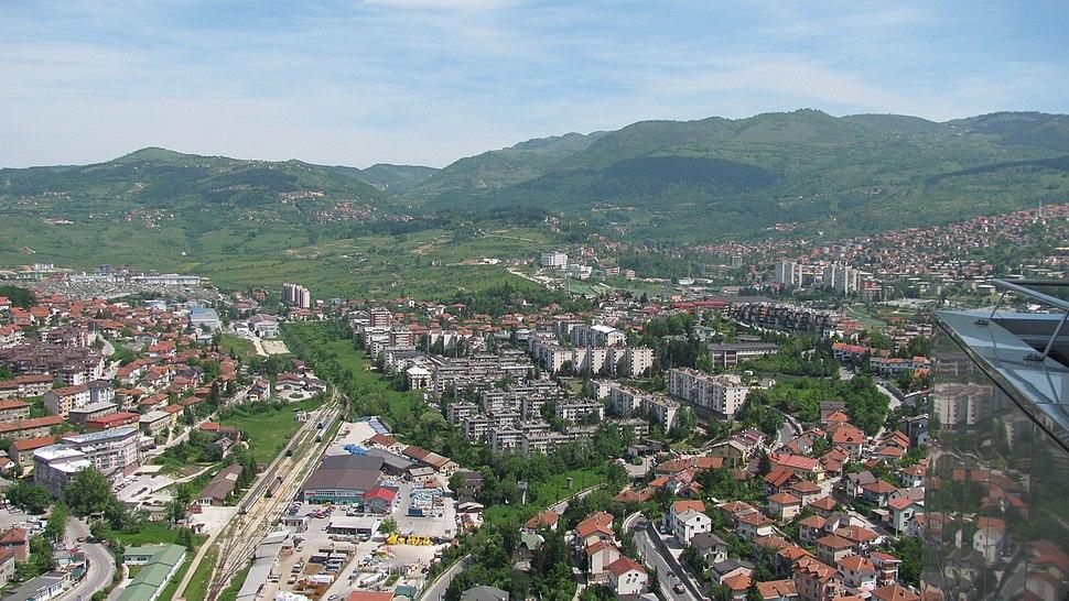 View towards Koševo Stadium, Sarajevo
