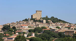 Châteauneuf-du-Pape - A view of the village of Châteauneuf-du-Pape, from the southeast