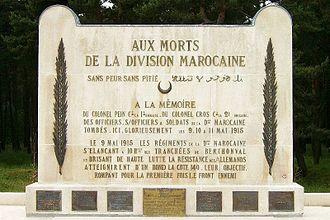 Moroccan Division (France) - Moroccan Division Memorial.