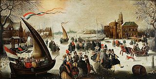 Winter Landscape with Skaters and Ice-Sailing