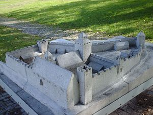 Visborg - Model of the fortress, Visby.