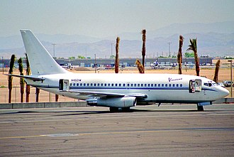 Vistajet - One of the Boeing 737-200 leased by Vistajet, operating for Viscount Air, 1995