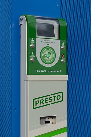 York Region Transit - Presto card reader at Promenade Terminal