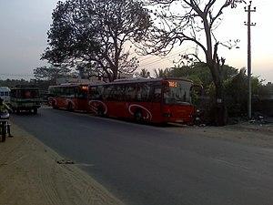 Gottigere - Volvo buses at Gottigere, Bannerghatta Road
