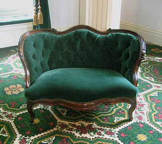 Rococo Revival - Rococo Revival sofa by Blake and Davenport purchased for the Vermont State House in 1859